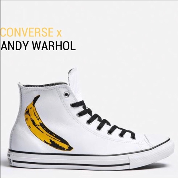 ff3841dd7356 NWOB🍌 ANDY WARHOL CONVERSE LEATHER SIZE 9.5